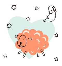 cute baby lamb cartoon t shirt vector image vector image