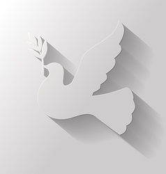 flat dove vector image vector image
