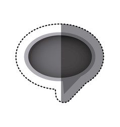 grayscale sticker of oval speech with tail in vector image vector image