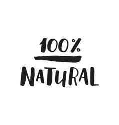 Hand drawn eco label vector image