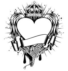 heart wings corona vector image vector image