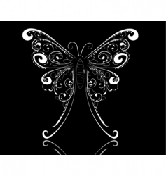 lace butterfly vector image vector image