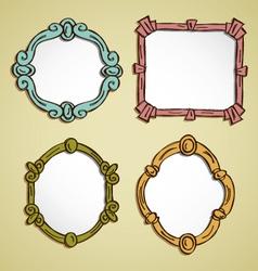 vintage frame doodle vector image vector image