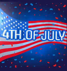 4th of july celebration background with confetti vector