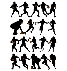 American football players vector image vector image