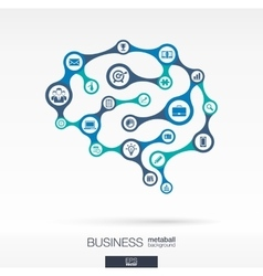 Brain concept for business vector image vector image