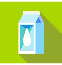 Milk box icon flat style vector image vector image