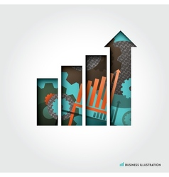 Minimal style Business Graph Concept vector image vector image