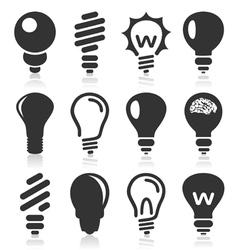 Bulb an icon vector image