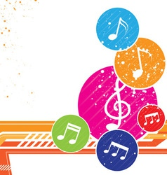 colorful music notes background vector image