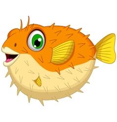 cute Blow fish cartoon vector image vector image