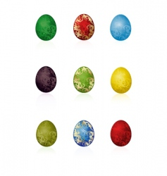 Easter eggs with pattern vector image vector image