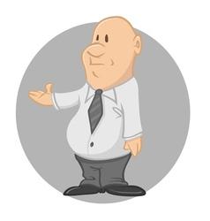 fat businessman vector image vector image