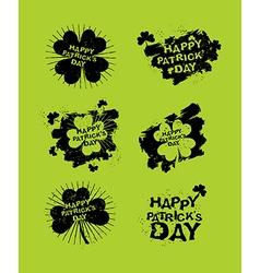 happy Patricks day set of emblems Logos for Irish vector image