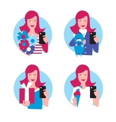 People make extraordinary Selfie vector image