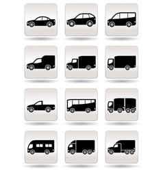Road transport icons set vector image vector image