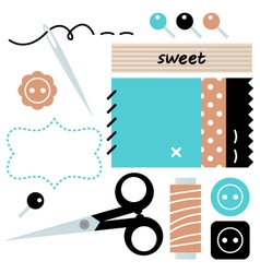 Sewing and needlework accessories vector
