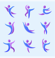 Silhouette abstract people performance character vector