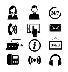 Support customer service call center and vector image