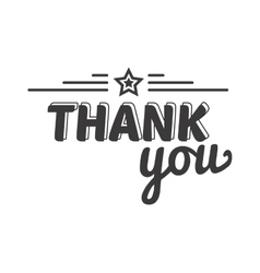 Thank you text badge vector image vector image