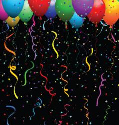 confetti and balloons vector image vector image