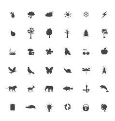 eco icons set on white background vector image