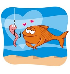 fish and bait vector image vector image