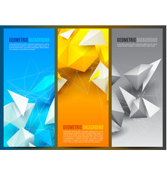 geometric backgrounds collection vector image vector image