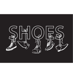 Image with text and shoes vector