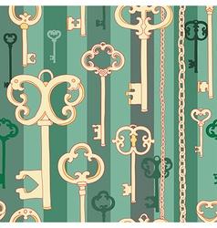 Key pattern green vector image
