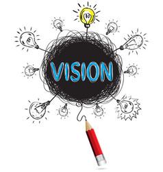 red pencil idea concept blue vision business vector image