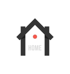 Smart house black icon with point vector