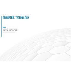 abstract hexagon pattern technology white design vector image