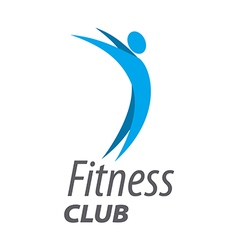 Abstract logo for fitness club vector