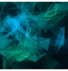 Abstract low poly dark bright technology vector image