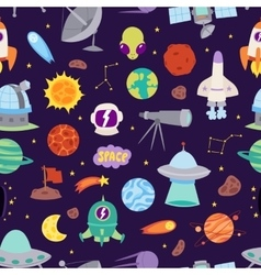 Astronomy space seamless pattern vector image