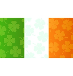 Background with flag of Ireland vector image