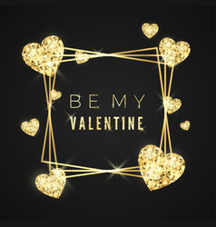 be my valentine happy valentines day greeting vector image