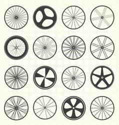 Bike wheel collection vector