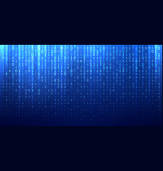 binary matrix code blue abstract background vector image