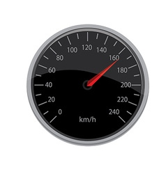 Black speedometer vector image