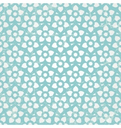 Blue floral wallpaper seamless background vector image