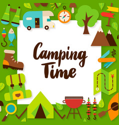 camping time paper concept vector image