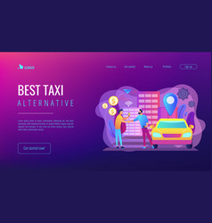 Carsharing service concept landing page vector