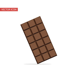 chocolate bar isolated flat design vector image