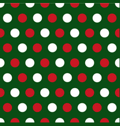 christmas polka dots background vector image