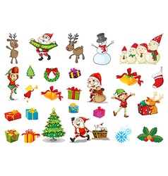 Christmas set vector image
