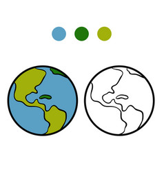 coloring book earth vector image