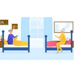 Concept nursing home vector