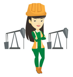 Confident oil worker vector